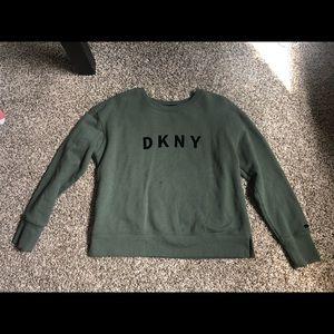 DKNY green sweatshirt